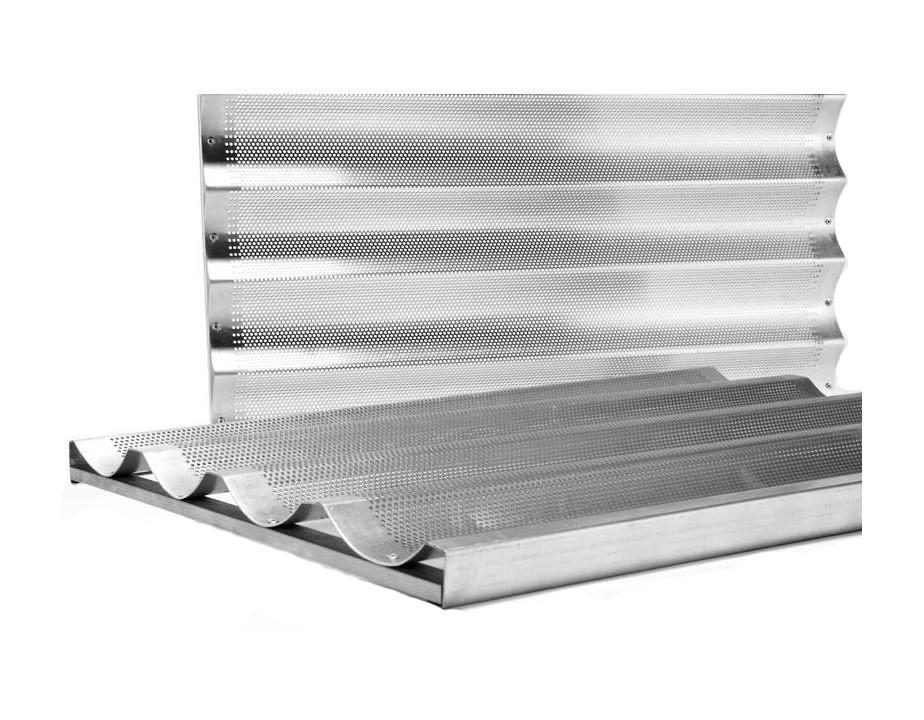 Charola baguetera aluminio loza cristaleria cubiertos for Utensilios de cocina de aluminio