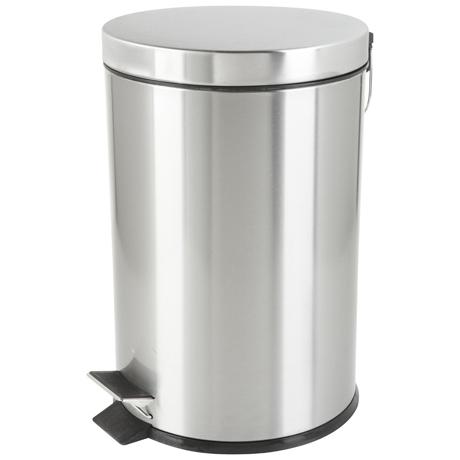 Bote de basura redondo 20 lt con pedal loza cristaleria for Bote utensilios cocina