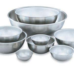 Bowls de acero inoxidable loza cristaleria cubiertos y for Utensilios cocina acero inoxidable