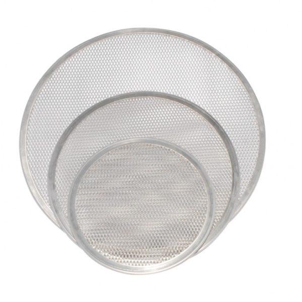 Malla para pizza 12 pg aluminio loza cristaleria for Utensilios de cocina de aluminio