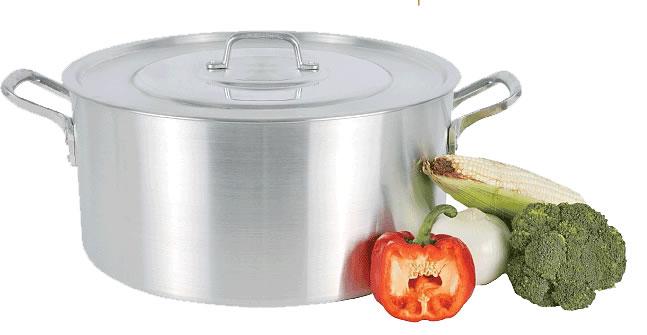 Olla media vap 40 cms medidas 40 x 21 5 cap 27 5lts for Utensilios de cocina de aluminio