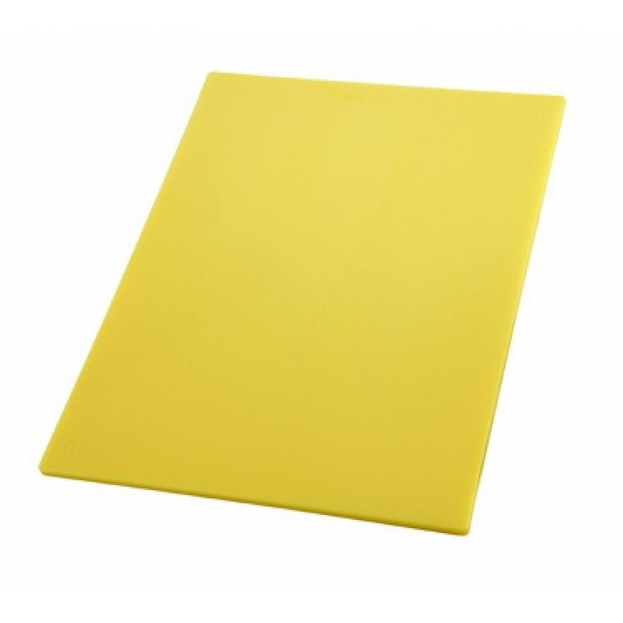 Tabla de corte alta densidad 12x18x1 2pg amarilla loza for Tablas de corte cocina