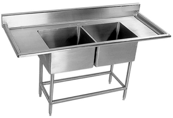 Fregadero doble tarja en acero inoxidable x x 0 for Mueble para cristaleria